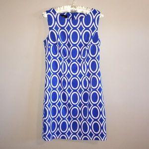 NWOT Alyx Sleeveless Blue / White Midi Dress